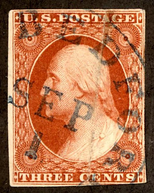 U.S. #10 Used VF  Date Cancel