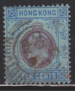 Hong Kong, King Edward VII, Sc. 76, used