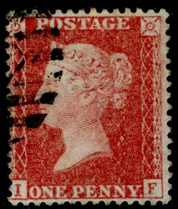 SG40, 1d rose-red, LC14, FINE USED. Cat £12. IF