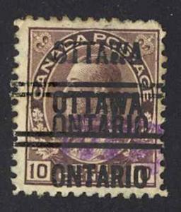 Canada Precancel Sc#3-116-D (Ottawa) Used (2X OVERPRINT) 1903-1908 KGV Admirals