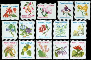 Brazil #2259-2273  MNH - Flowers, Indigenous Flora (1989-93)