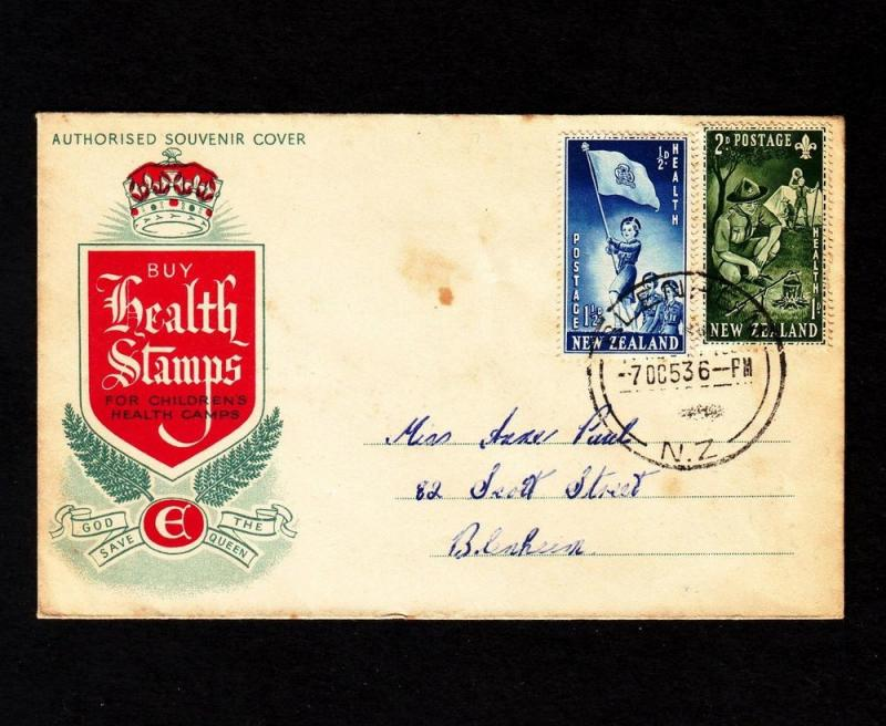 New Zealand – 1953 Health Stamps on First Day Cover