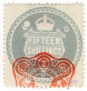 (I.B) Edward VII Revenue : General Duty Adhesive 15/- (series 9)
