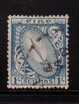 Ireland Sc 76 1922 1 Shilling Sword of Light stamp  used
