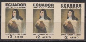 Ecuador Scott C475 Mint NH imperf strip of 3