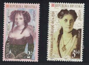 Croatia Europa Famous Women 2v 1996 MNH SG#436-437