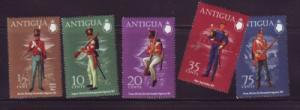 Antigua Sc 283-7 1972  Military Uniform stamps mint NH