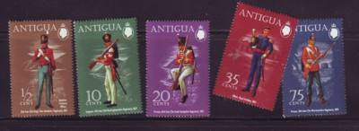 Antigua Sc 283-7 1972  Military Uniform stamps mint NH