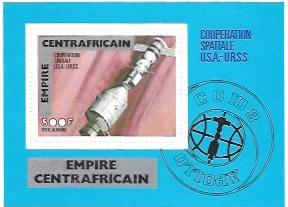 Central African Empire. MNH Apollo Soyuz Space