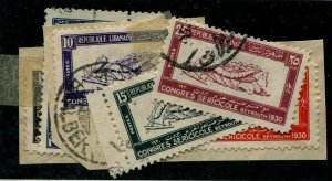 HERRICKSTAMP LEBANON Sc.# 108-13 Used Scott Retail $90.00