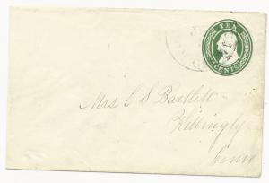 US POSTAL STATIONERY COVER North San Juan, CA June 2, 1855