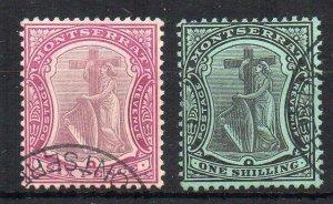 Montserrat 1909 6d and 1s FU CDS