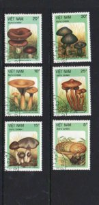 VIET NAM #1806-1812  1987  MUSHROOMS    MINT VF NH O.G  CTO