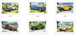 Jersey Sc 1463-8 2010 Vintage Cars stamp set used