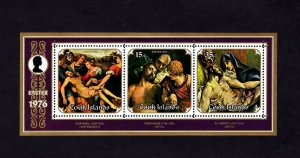 COOK IS - 1976 - EASTER - PIETA - CROSS - RAPHAEL - EL GRECO - MINT MNH S/SHEET!
