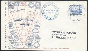 CHILE ANTARCTIC 1963 cover - base cancel...................................53554