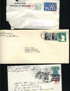 USA #U551, U562, U632   pus  stamps  used PD