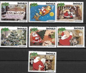 Anquilla 1981 DisneyThe night before Christmas SC# 453-459 MNH