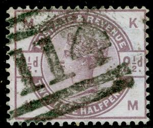 SG190, 2½d lilac, USED. Cat £20. KM