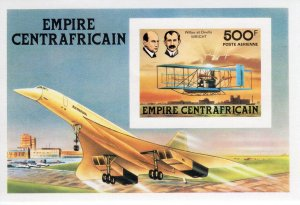Central African Empire 1978 Sc#C199 History of Aviation-CONCORDE S/S IMPERF.MNH