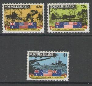 NORFOLK ISLAND SG522/4 1991 OUTBREAK OF PACIFIC WAR MNH