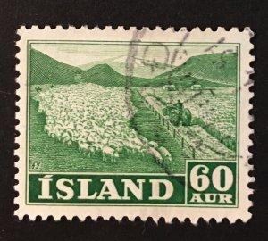 Iceland Sc. #261, used