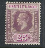 Straits Settlements George V  SG 234 Mint Hinged  Die II type 1