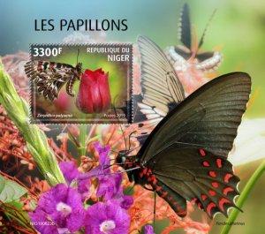 NIGER - 2019 - Butterflies - Perf Souv Sheet - MNH