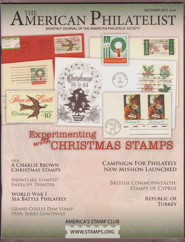 APS Magazine Dec 2015 , Experimenting with Christmas Stamps  - I Comine S/H