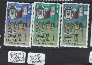 QATAR   (P116BB)    SCOUTS  LIKE  SG 59-61   REVALUED     MNH
