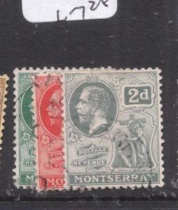Montserrat SG 49-51 VFU (2dly)