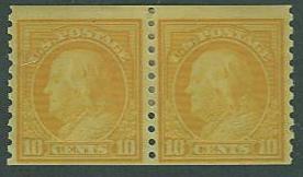 USA SC# 497 Franklin, 10¢, Coil Pair,  MH