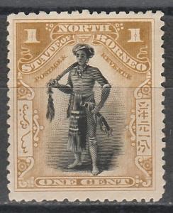 NORTH BORNEO 1897 CHIEF 1C PERF 13.5 -14