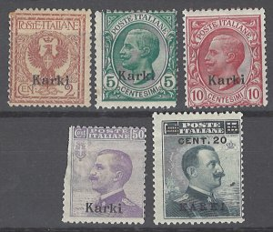 COLLECTION LOT # 2124 ITALY CALCHI 5 STAMPS (#8 FAULTY) 1912+