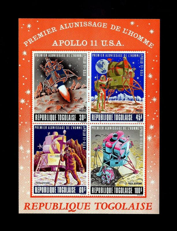 TOGO - 1969 - SPACE - APOLLO - MOON LANDNG - EAGLE + IMPERF MINT - MNH S/SHEET!