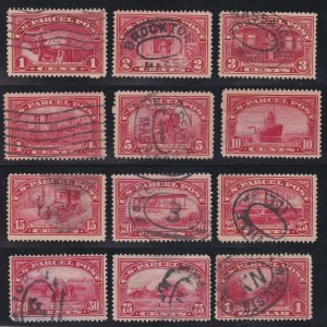 US Q1-Q12 Parcel Post Used VF SCV $207