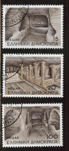 GREECE Scott 1520-22 Used CTO 1985 Catacombs set