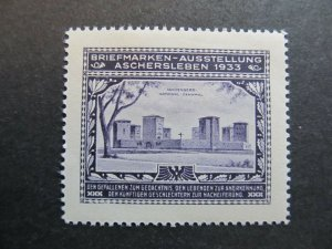 A4P2F24 Germany Poster Stamp 1933 International Philatelic Exhibition mh*