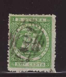 1863 Br Guiana 24c Fine Used SG79