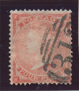 Great Britain Stamp Scott #34, Used - Free U.S. Shipping, Free Worldwide Ship...