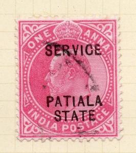 Indian States Patiala 1903 Early Issue Fine Used 1a. Optd 075615