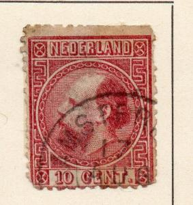 Netherlands 1864 Early Issue Fine Used 10c. 253292