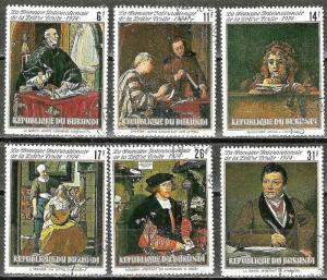 BURUNDI 1974 MASTERWORK PORTRAIT PAINTINGS Stamp Set WYSIWYG Lot