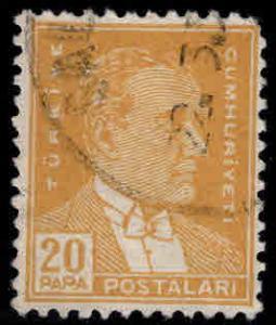 TURKEY Scott 1117B  Used stamp