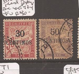 French Morocco Post Due Y&T T3-4 VFU (10atp)