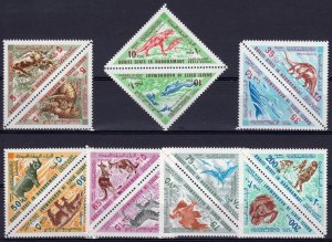 Aden (State of Hadhramaut) 1968  Dinosaurs-Prehistoric Animals (7 pairs) MNH
