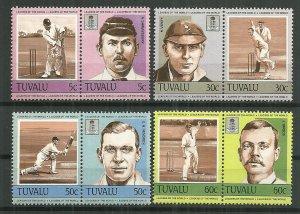 1984 Tuvalu Cricket World Leaders C/S MNH