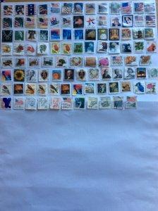 USA 100 stamps - Lot E