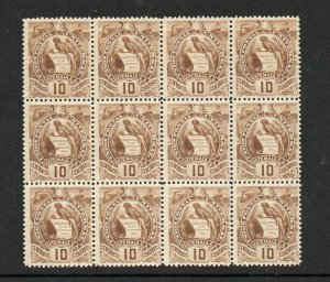 Guatemala - Sc# 103 MNH (1stamp touched)/  BK(12)   - Lot 0921292