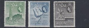 ADEN    1953 - 63    VALUES TO 70C  PERF 12 X 13 1/2    MH